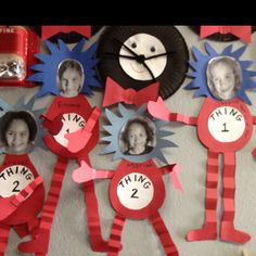 Dr. Seuss - Thing 1 & Thing 2 craft.