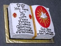 Holy Spirit Confirmation Cake