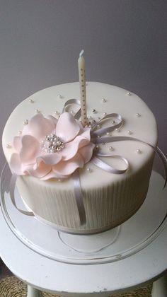 Delicately elegant cake.