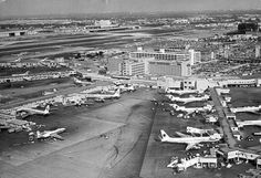 Aerial view of Miami International Airport intern airport