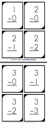 Check out our basic subtraction flash cards!