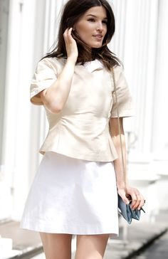 #summer whites   Summer style #fashion #nice #new #Summerstyle  www.2dayslook.com