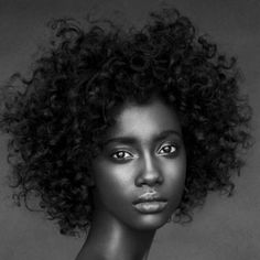 african hair, natur hair, big hair, beauti, crystal, black, portrait, curly hair, natural beauty