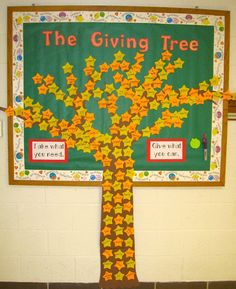 The Giving Tree interactive board idea