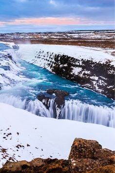 Gullfoss in Winter W