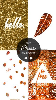Free Fall Inspired iPhone/iPod Wallpapers. Enjoy!   Wonder Forest: Design Your Life.