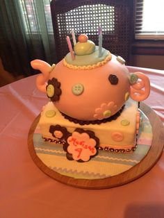 Cake I made for a Tea Party Birthday