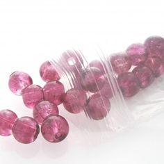 Crackle Glass Jewellery Beads - Purple - Spoil Me Silly Jewellery