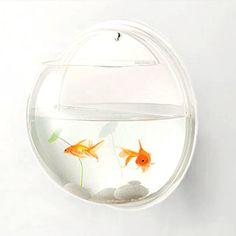 love this!  Hanging fish bowl