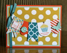Stampin' Up! Birthday  by Krystal De Leeuw at Krystal's Cards and More: Spring Stampin' Club - Patterned Occasions