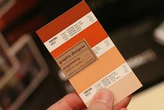 Business cards using old Pantone cards. So clever.