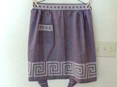 Vintage Purple Gingham Apron with Embroidery, 1950s, by TimelessTreasuresbyM on Etsy