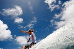 Cool, unique angle of a surfer. Photo by Morgan Maassen