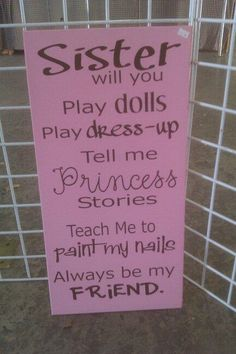 great for sisters room...