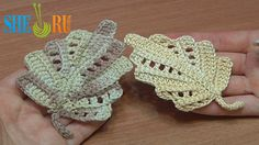 Crochet Leaf Work In Back Loops Tutorial 22 Part 1 and 2 http://sheruknitting.com/videos-about-knitting/crochet-leaf-lessons/item/249-crochet-leaf-work-in-back-loops.htm http://sheruknitting.com/videos-about-knitting/crochet-leaf-lessons/item/250-ho-to-crochet-leaf.html Learn how to crochet this beautiful leaf working stitches in back loops. In this second part we will complete the leaf. This is a two-side leaf, it has rows of double crochet stitches and rows of chain spaces.