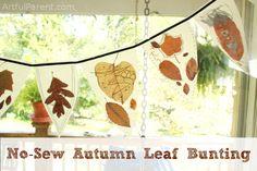 No Sew Autumn Leaf Bunting