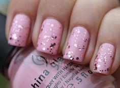 #pastels #nailpolish #colors #Beauty #Nails #pink #glitters