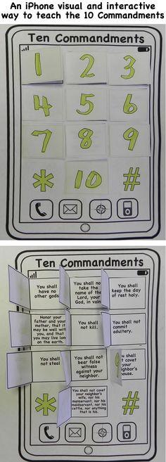 cute way to teach the 10 commandments