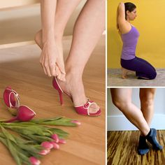Wear High Heels? Do These Stretches: Whether you wear heels solely on special occasions or rock them every day, here are some stretches to offer your tootsies a little relief from soreness or pain. Good stretches, some I haven't heard of before.