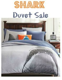 shark duvet sale - might work in a surfer style bedroom.