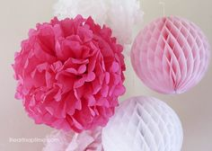 DIY Tissue Paper Flowers on iheartnaptime.net!