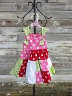 Toddler Dress Polka-Dot Knotted Strap Cotton Twirl Dress. Beautiful!