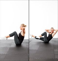 Abs Workout:  5-minutes to a flat stomach (Shape) (Crunch Chop, Seated Bicycle Twist, Triangle Hip Press, Corkscrew, Three-way plank) - my entire core hurt for at least two days