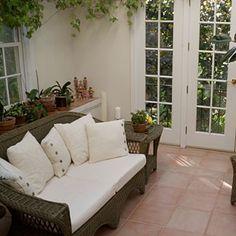 Sunroom Ideas - plant shelf