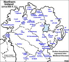 Ireland's History in Maps - the Northern Uí Neill - Niall of the Nine Hostage