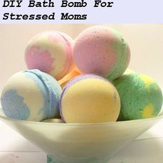 DIY Fizzy Bath Bomb For Stressed Moms