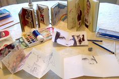 a variety of sketchbooks