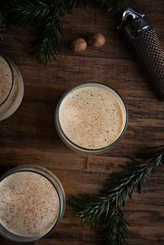 Start the weekend with a cup of homemade egg nog. season, homemad eggnog, egg nog