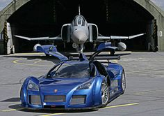 The Gumpert Apollo debuted in 2005, designed to be a car that would be ready for both the street and the racetrack. It has a 4.2-liter V8 engine with a top speed of 225 mph. Depending on the trim and options, the car runs about $300,000 to $450,000.