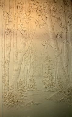 Bas Relief wall sculpture...An ancient art form technique used in sculpting. by artist Cindy Jo Popejoy www.spiritsbycindyjo.com