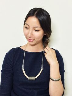 #DIY Chain, Rope and Giant Bead #Necklace #Tutorial.