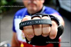 Biking for clean water.