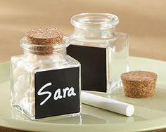place card holders, wedding favors, cork, place cards, shower favors, favor jar, seating cards, chalkboard, candy jars