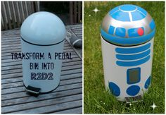 Knitty Mummy: Pinaddicts Challenge - DIY R2D2 Pedal Bin
