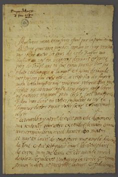 Mary, Queen of Scots last letter, written February 8, 1587