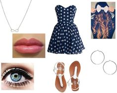 """Polka dot dress!"" by baby-i-love-you-too-much on Polyvore"