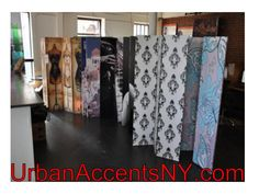 Room divider screens with art and photo printed images as well as the DIY blank canvas screen in different sizes