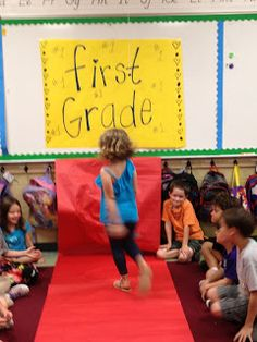 Ok...this is a Kindergarten blog...but third graders would love this! ~Roll out the red carpet (paper) and give the class their candy bar awards on the last day of school.  Lots of minute to win it games too. Last day of school fun!