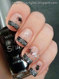 polish nails, nail polish colors, nail designs, nail art ideas, black white, nail arts, color black, halloween nail art, halloween nails