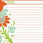 FREE Recipe Card Printables - Lots to choose from.