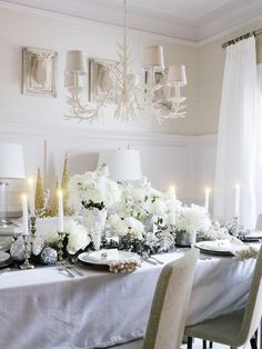 Sea of White - Creating a White-on-White Holiday Tablescape on HGTV