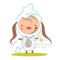 Cartoon baby sheep at http://www.tibilis.com/stock