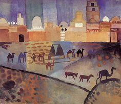 Auguste Macke, Kairuoan I, 1914. Watercolor.