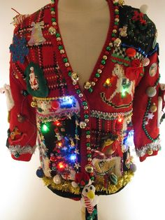 UGLY CHRISTMAS SWEATER, It's that time of year! (I don't think I could even wear this just for our work party...it's pretty awful)
