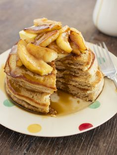 spicy icecream: Cider Pancakes with Apples and Cider Salted Caramel