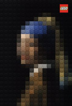 Lego artwork: Girl with the pearl ear ring